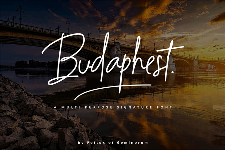 Budaphest font by Pollux of Geminorum