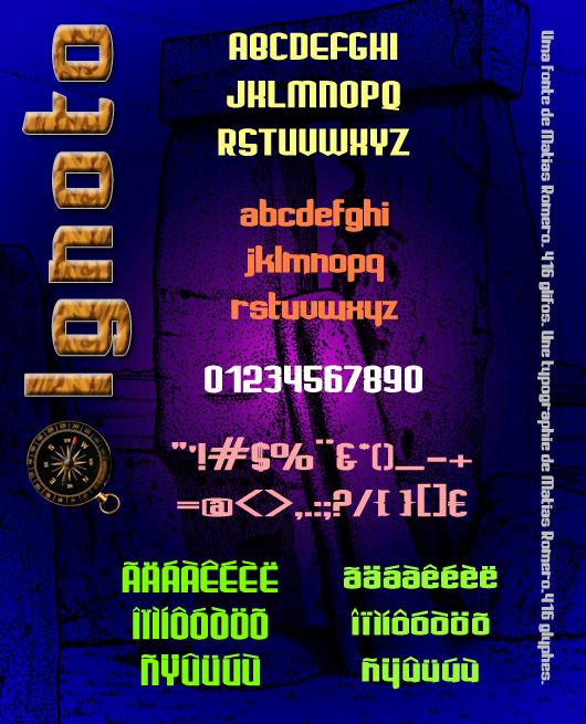 Ignoto font by Matias Romero