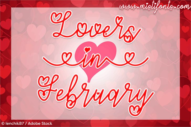 Lovers in February font by Misti's Fonts
