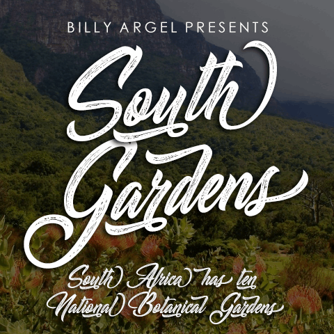 South Gardens Personal Use font by Billy Argel