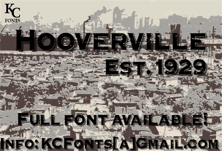 Hooverville font by KC Fonts