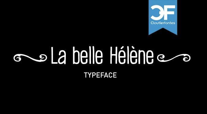 CF La belle Helene P font by CloutierFontes