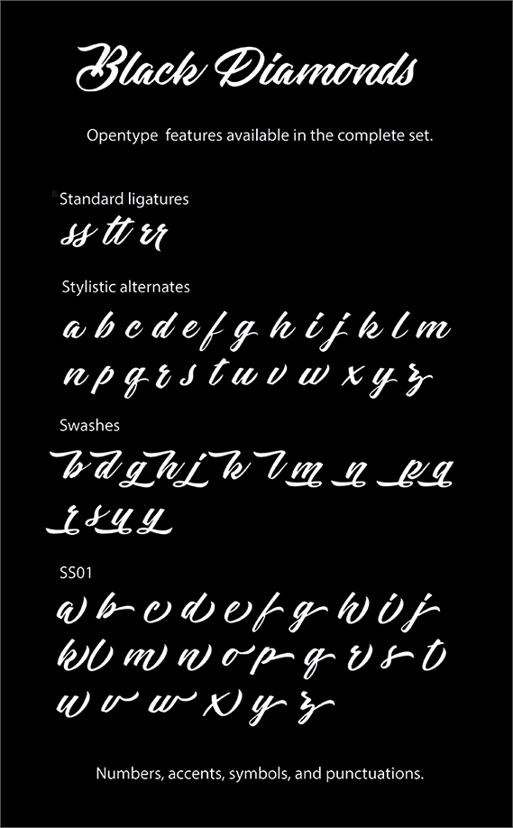 Black Diamonds Personal Use font by Billy Argel - FontSpace