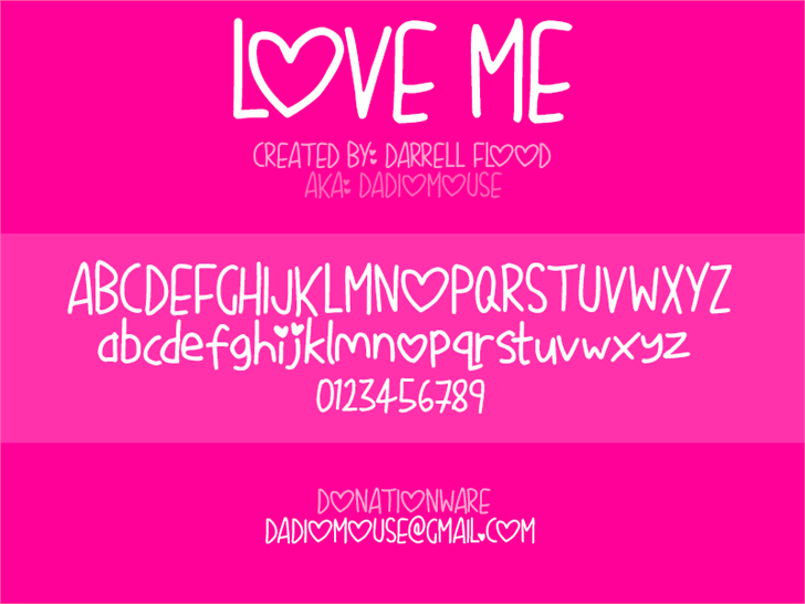 Love Me font by Darrell Flood