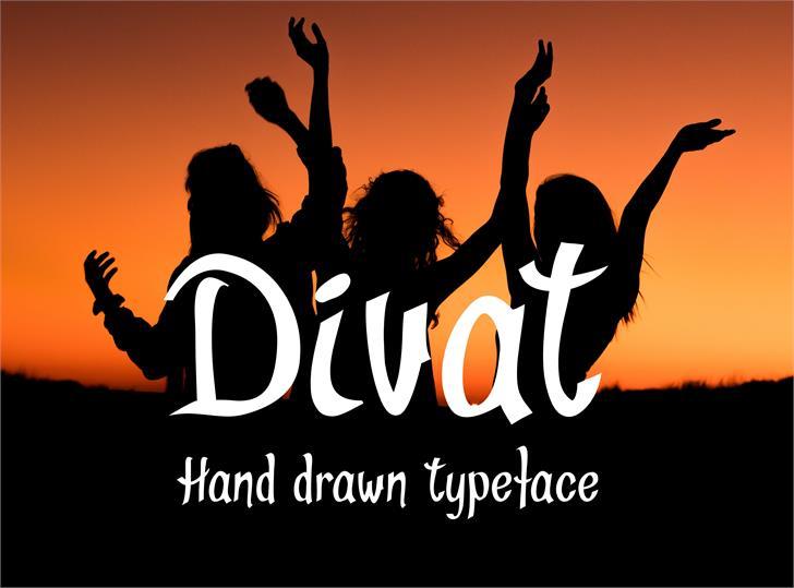Divat font by Eva Barabasne Olasz