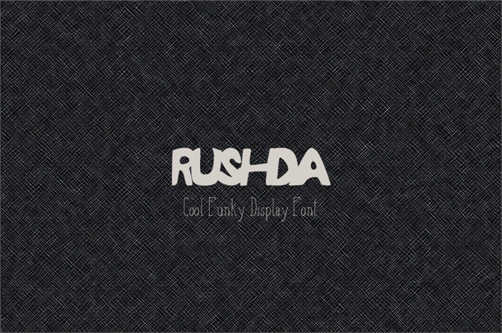 RUSHDA font by Creativetacos