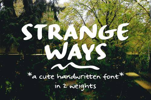 Strangeways Sample font by justlikethistrain