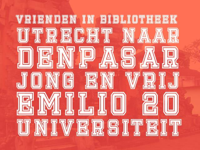 Emilio 20 font by Gunarta