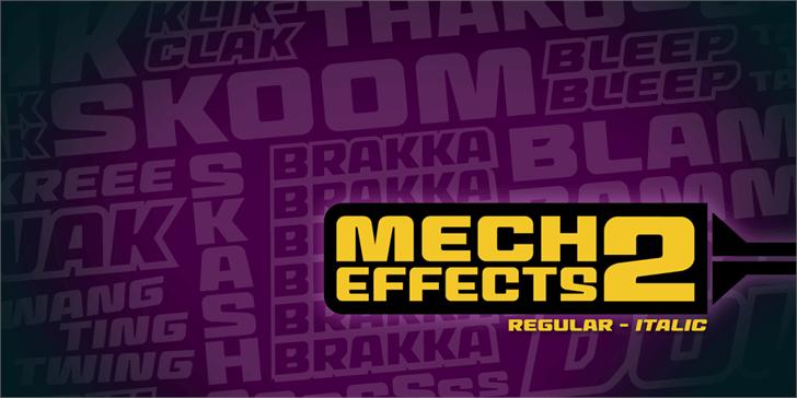 MechEffects2 BB font by Blambot