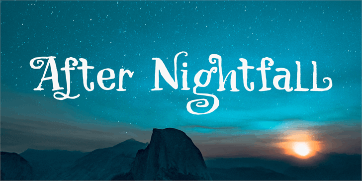 After Nightfall DEMO font by David Kerkhoff