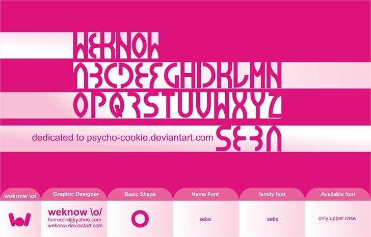 seba font by weknow