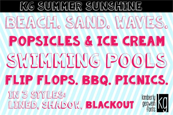 KG Summer Sunshine font by Kimberly Geswein