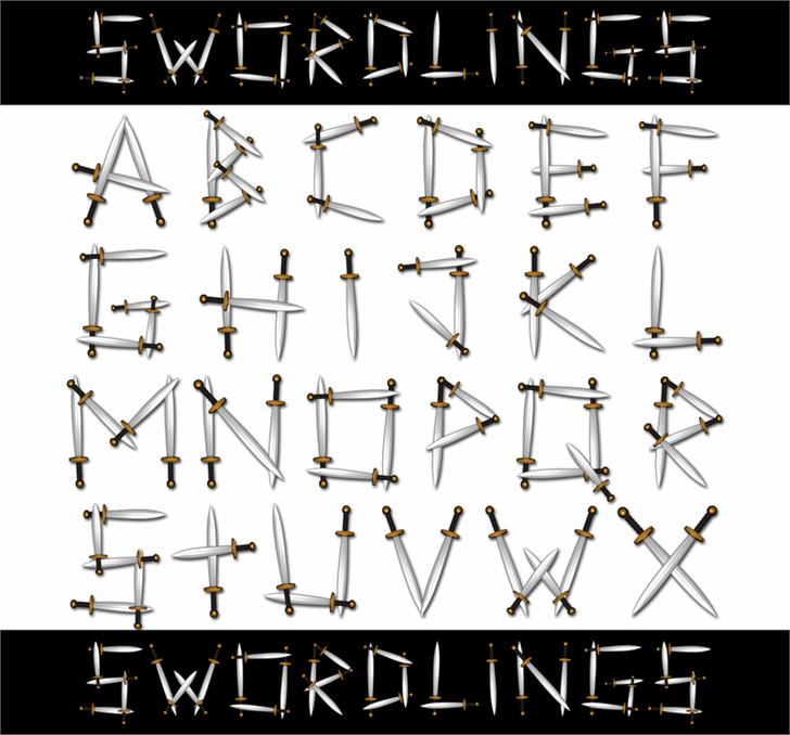 Swordlings font by 404maciej