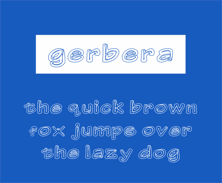 Gerbera Personal Use Only font by Jamel E. Robin