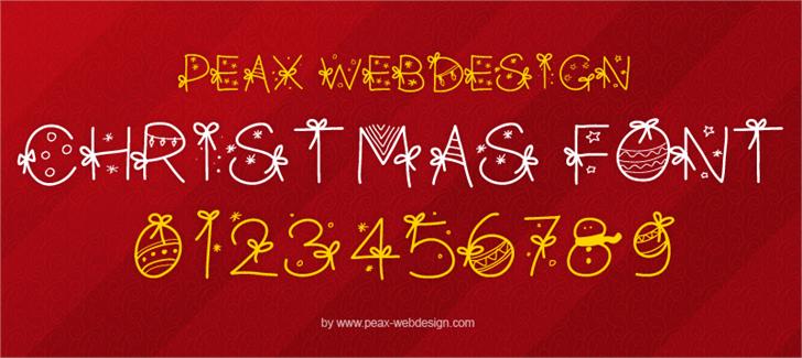 PWChristmasfont by Peax Webdesign
