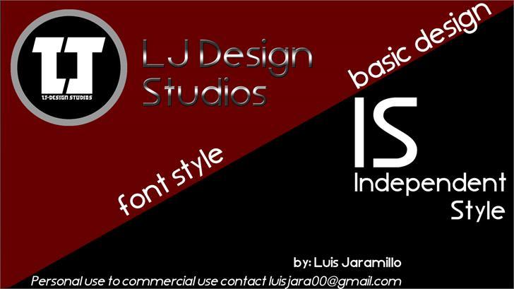 LJ Design Studios IS font by LJ Design Studios
