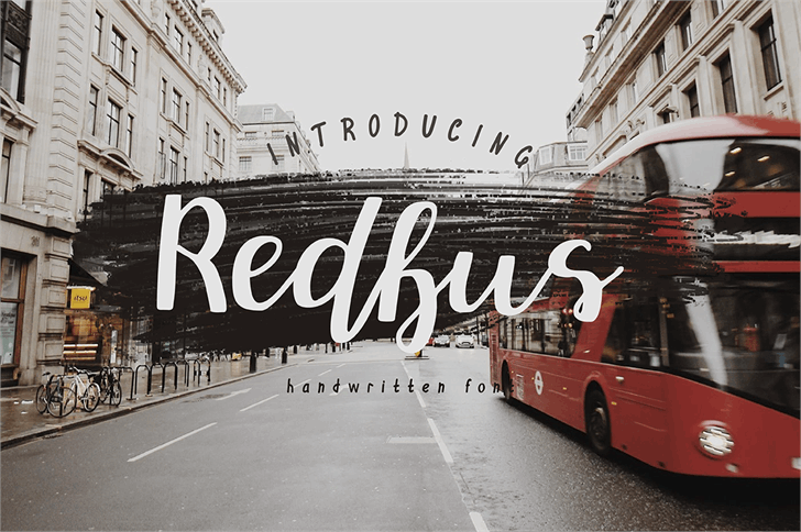 Redbus font by Mr. Typeman