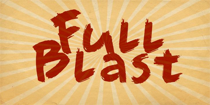 DK Full Blast font by David Kerkhoff