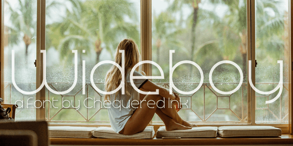 Wideboy font by Chequered Ink