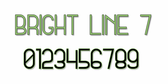 Bright Line 7 font by Style-7