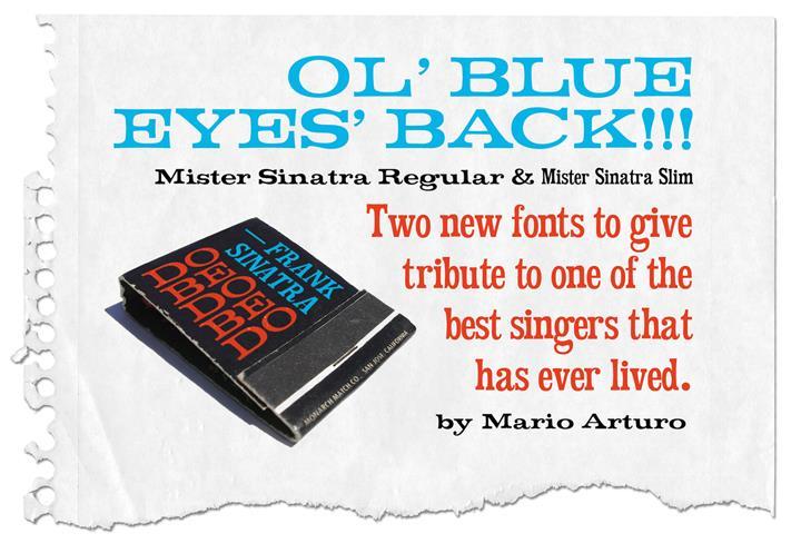 Mister Sinatra font by Mario Arturo