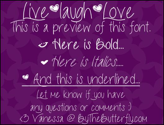 LiveLaughLove font by ByTheButterfly