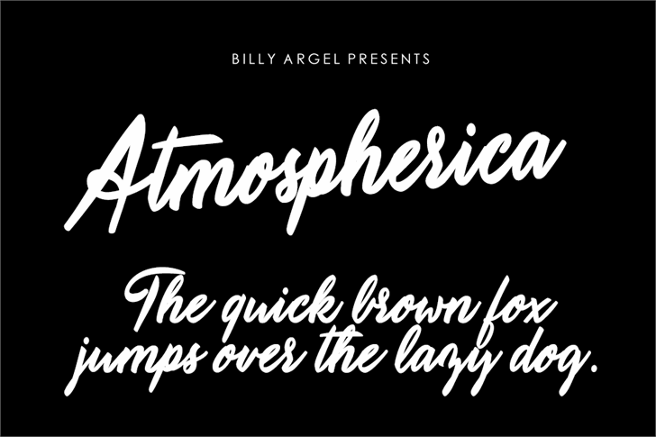 Atmospherica Personal Use font by Billy Argel
