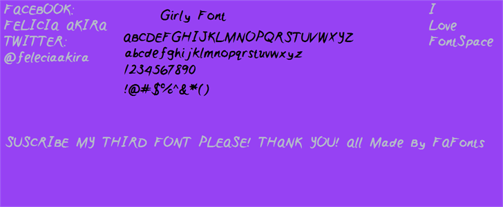 Girly font by FontMaster