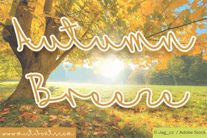 Mf Autumn Breeze font by Misti's Fonts