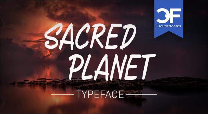 CF Sacred Planet font by CloutierFontes