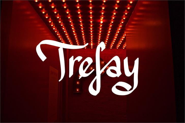 Trefay font by Eva Barabasne Olasz