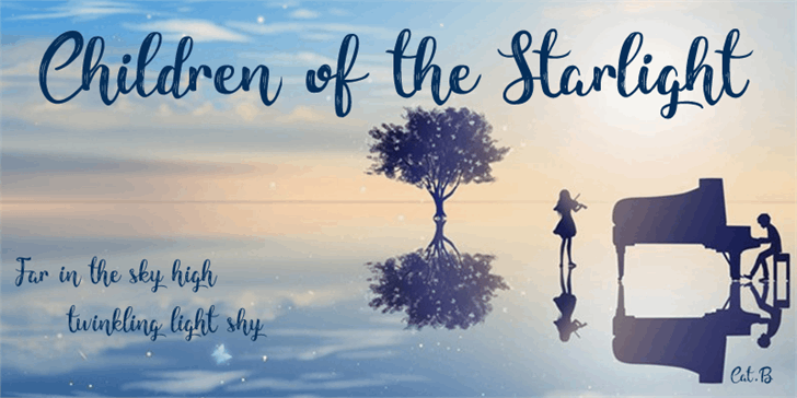 Children of the Starlight font by Foundmyfont Studio Typeface LTD