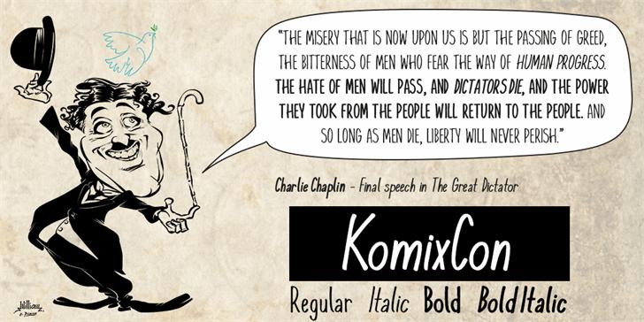 KomixCon font by William Medeiros