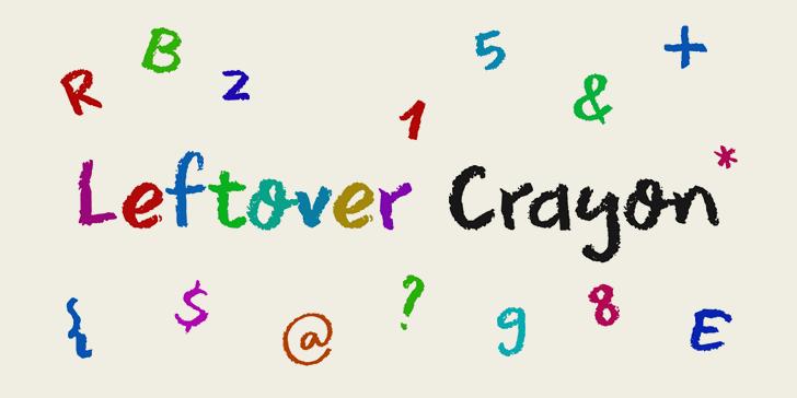 DK Leftover Crayon font by David Kerkhoff