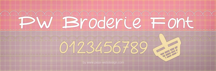 PWBroderie font by Peax Webdesign