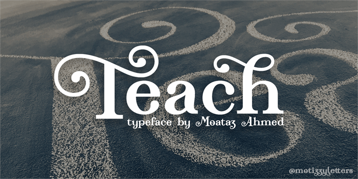 Teach Demo font by Roland Huse Design