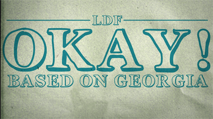 Okay font by Jake Luedecke Motion & Graphic Design