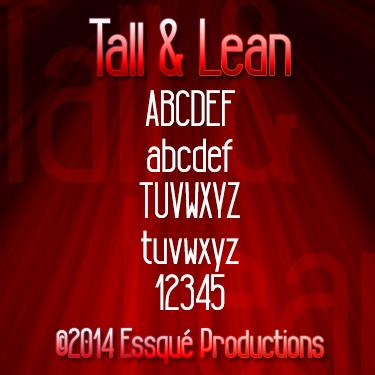 Tall & Lean font by Essqué Productions