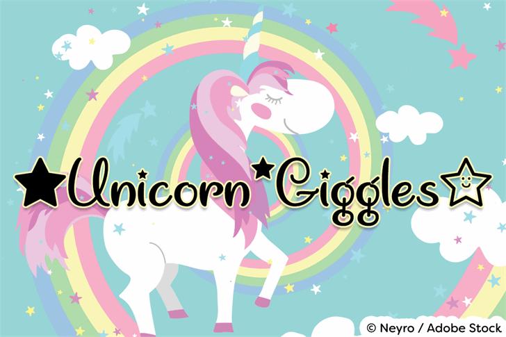 Unicorn Giggles font by Misti's Fonts