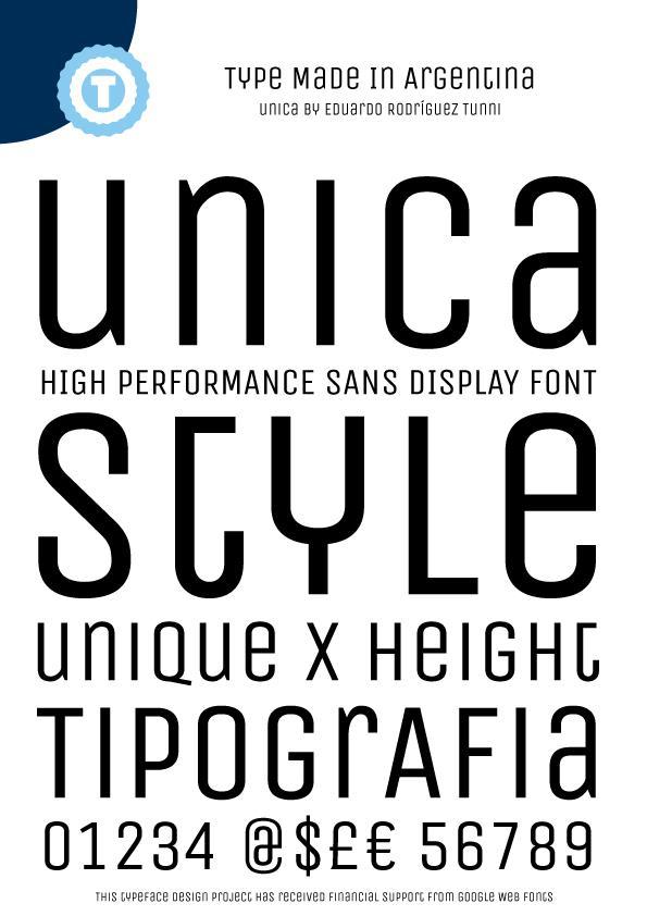 Unica One font by Eduardo Tunni