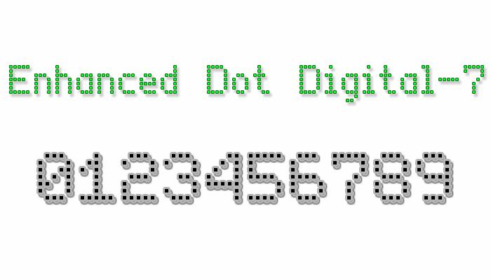 Enhanced Dot Digital-7 font by Style-7