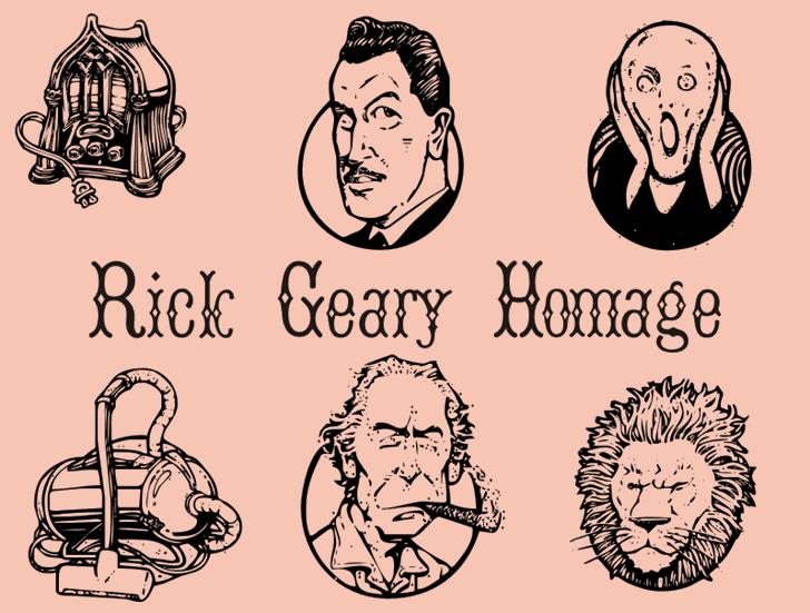 RickGearyHomage font by Intellecta Design