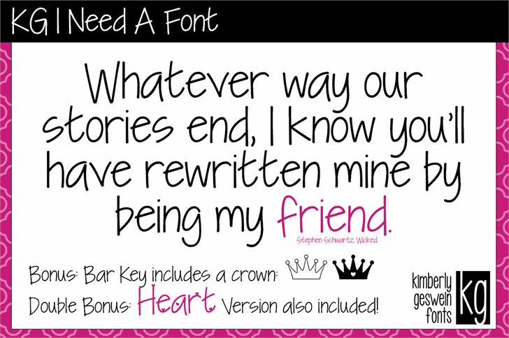 KG I Need A Font by Kimberly Geswein