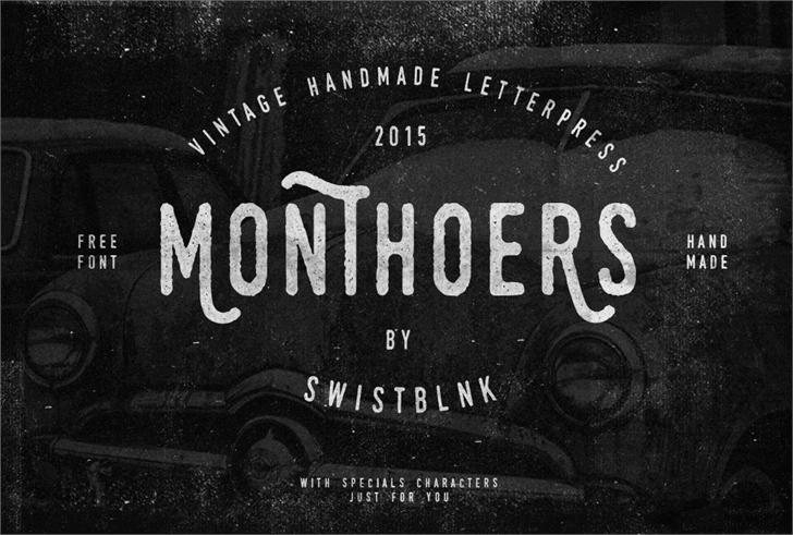 Swistblnk Monthoers font by swistblnk