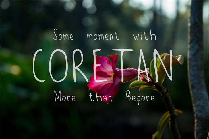 Coretan font by VEGROWLSTER