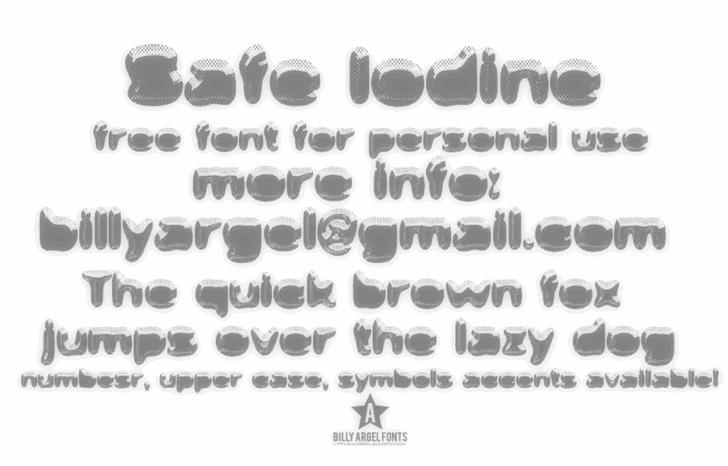 Safe Iodine font by Billy Argel