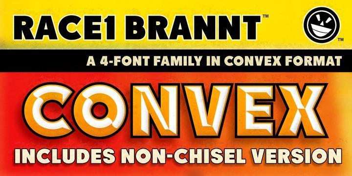 RACE1 Brannt NCV font by the Fontry