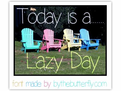 LazyDay font by ByTheButterfly