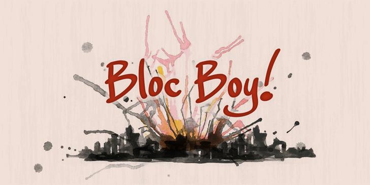 Bloc Boy PERSONAL USE ONLY font by Måns Grebäck