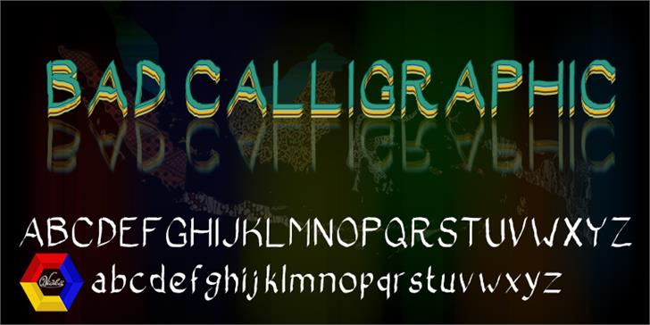 Bad Calligraphic font by vidka